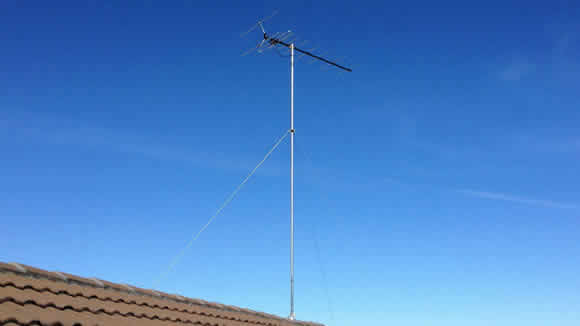 Guyed Mast TV Antenna Installation